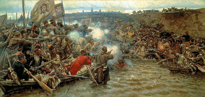 Картина В. И. Сурикова - «Покорение Сибири Ермаком», холст, масло, 1895 г.
