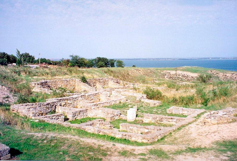 Вид одного из раскопов в древнем городе Ольвия, Николаевская область, Украина