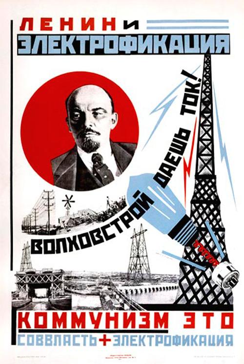 Плакат электрификации страны, 1925 г.