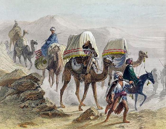 Торговля в Средневековье Торговый караван в Средневековье